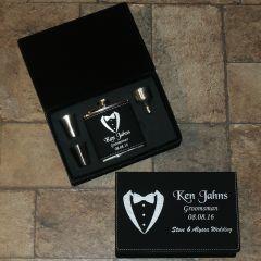 Groomsmen Gifts Flask Set