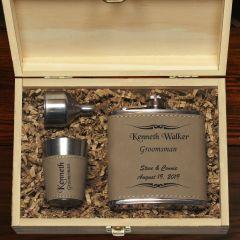 Appaloosa Flask And Shot Glass Groomsmen Gift Set