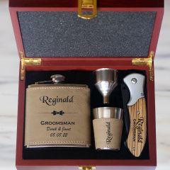 Mustang Groomsmen Gift Set Flask Set