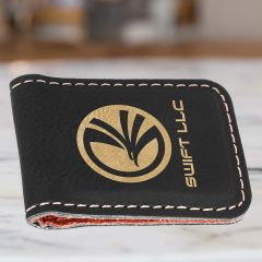 Personalized Money Clip With Gold Metallic Engraving