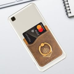 Rustic Phone Wallet With Finger Ring Stand