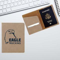 Personalized Leatherette Passport Wallet
