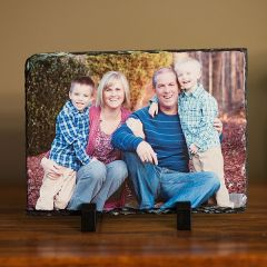 Photo Personalized Rectangle Slate Rock Plaque