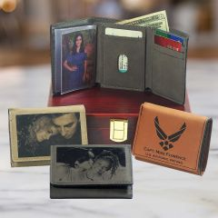 Leatherette Trifold Wallet In Choice Of Color