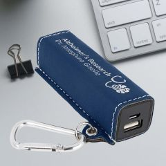 Personalized Power Bank in Blue with Silver Metallic Engraving