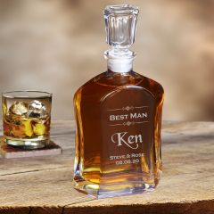 Bormioli Rocco Capitol Groomsman Gift Whiskey Decanter