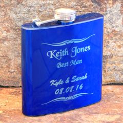 Engraved Groomsmen Gift Flask