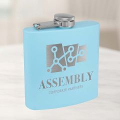 Powder Blue Six Ounce Flask