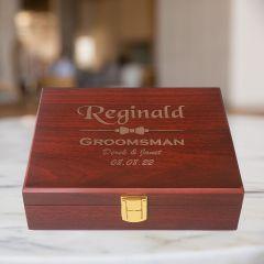 Groomsmen Gifts Box in Rosewood