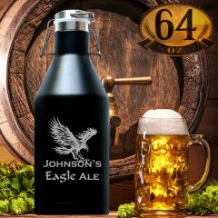 Personalized Beer Growler 64 Oz From Polar Camel
