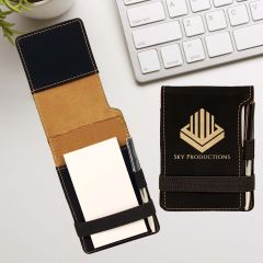 Notepad And Pen with Gold Metallic Engraving