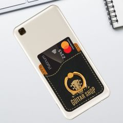 Phone Ring Wallet In Black Leatherette