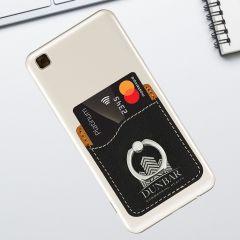Black Leatherette Phone Ring Wallet