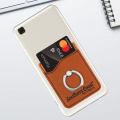 Rawhide Leatherette Phone Wallet With Finger Ring