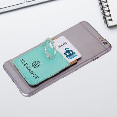 Teal Leatherette Phone Wallet