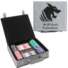 Personalized Poker Set In Gray