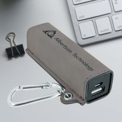 USB 2200 mAh in Gray Leatherette