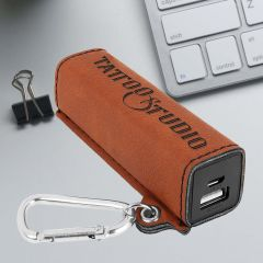 Power Bank in rawhide leatherette